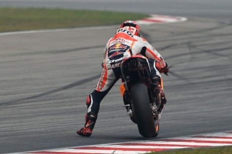 Marc Marquez riding style