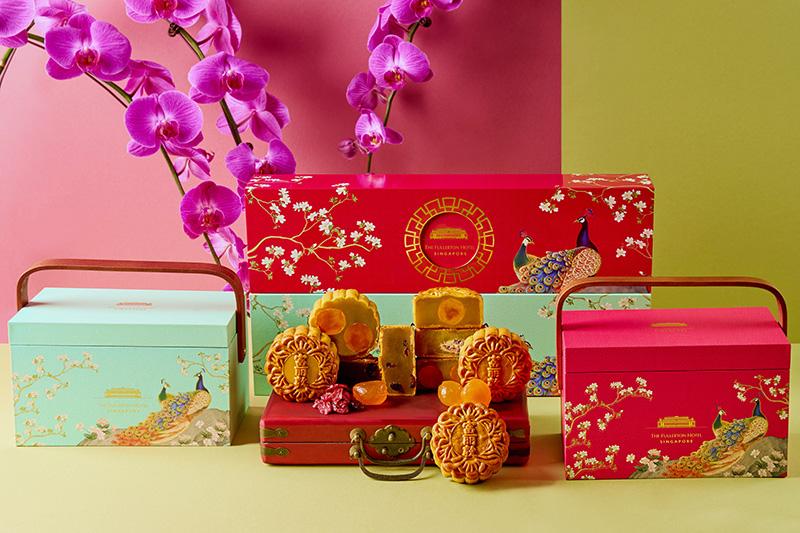 fullerton hotel singapore mooncake 2021 with box