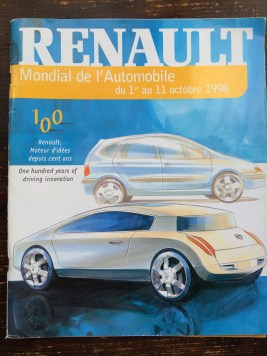 What appears to be a program for a Renault open event between 1st and 11th Oct 1998. It boasts that 450 vehicles are available for test drives.