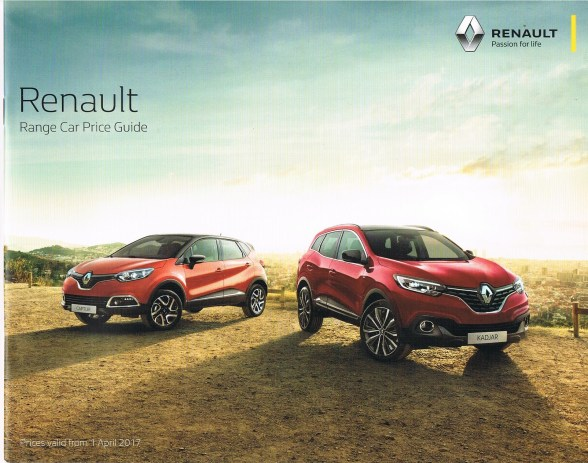7701380823 Renault Range Car Price Guide Valid From 010417