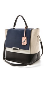 DVF colorblocked tote