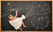 chalkboard advenutres of a newborn baby (7)