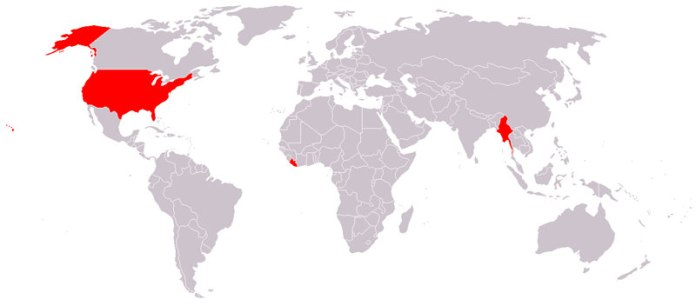 Countries That Do Not Use the Metric System