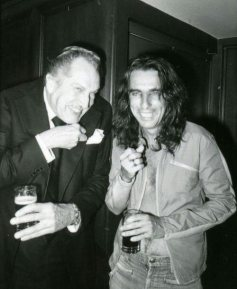 Vincent Price and Alice Cooper
