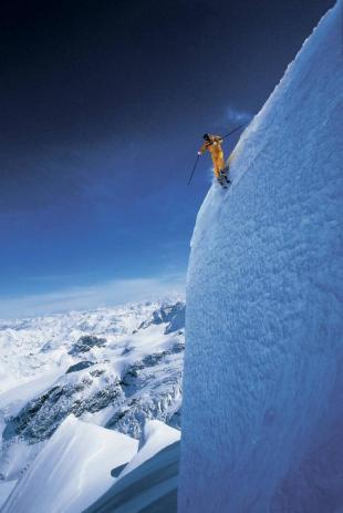 Extreme skiing at Grand Targhee, Wyoming