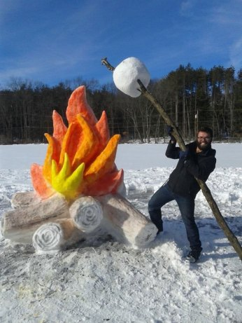 giant-fire-and-marshmallow-out-of-snow-by-shaffer-art-studio-1