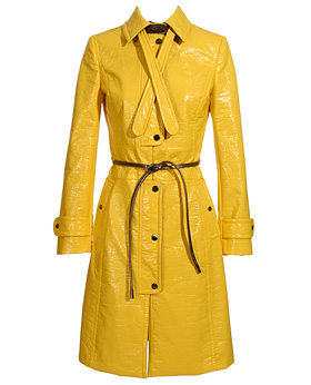 Dolce & Gabbana lacquered cotton coat