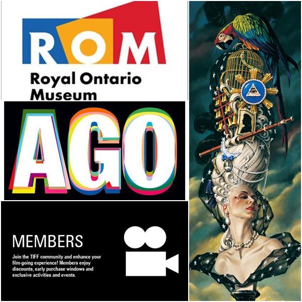 ROM Membership, AGO Membership, TIFF Membership, Opera Atelier The Magic Flute Tickets