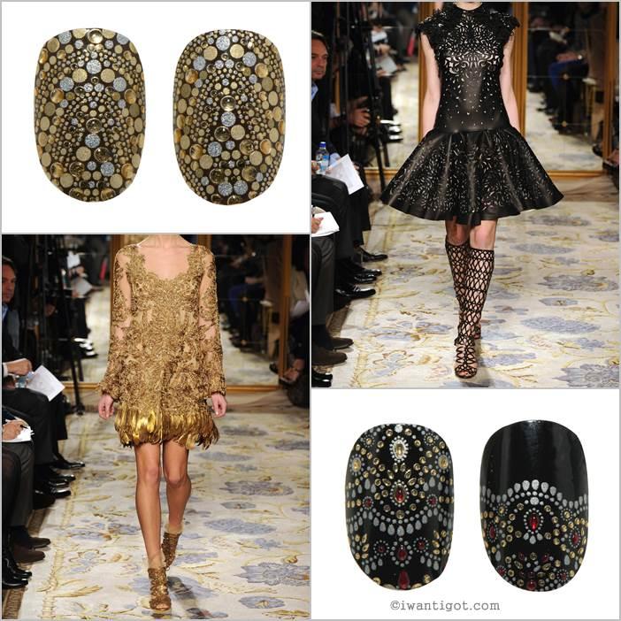 Revlon by Marchesa Nail Art 3D Jewel Appliqués - Guilded Mosaic, JeweledNoir