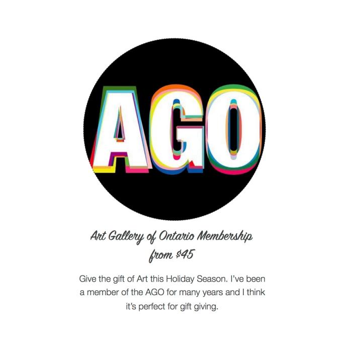 I want - I got 2016 Holiday Gift Guide - AGO Membership