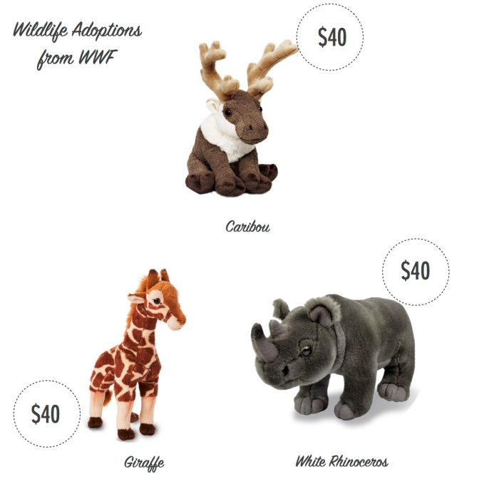 I want - I got 2016 Holiday Gift Guide - Wildlife Adoptions from the World Wildlife Fund