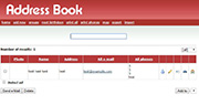 Address Book PHP MYSQL Source Code