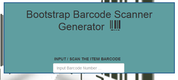 Barcode Generator PHP and MySql Source Code