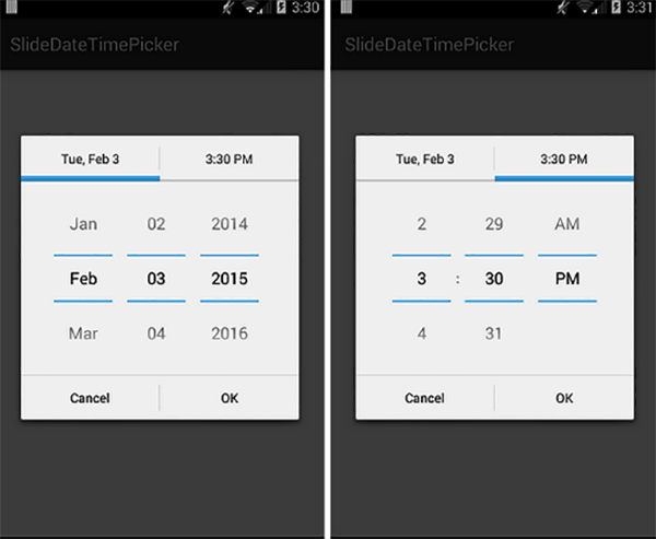 Date Time Picker Application Android Source Code