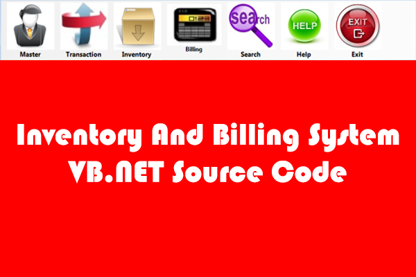 Inventory And Billing System VB.NET Source Code