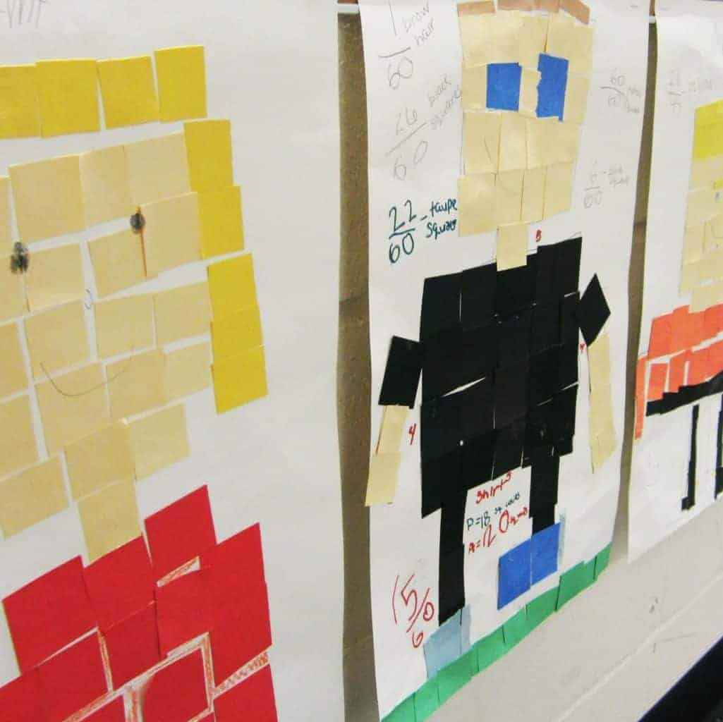Practice Perimeter Area Amp Fractions With Math Mosaics