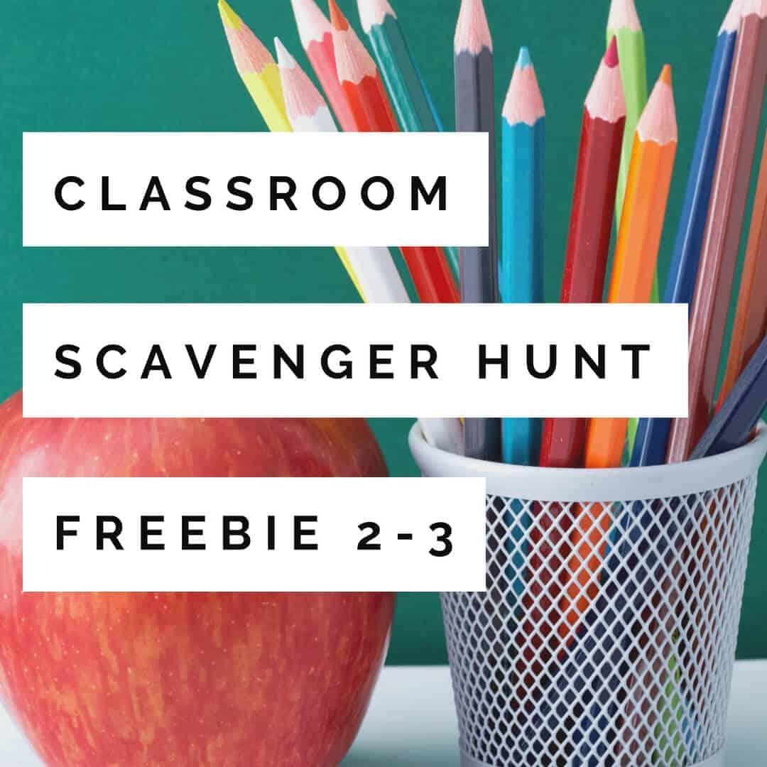 A Free Back To School Activity Classroom Scavenger Hunt Fun