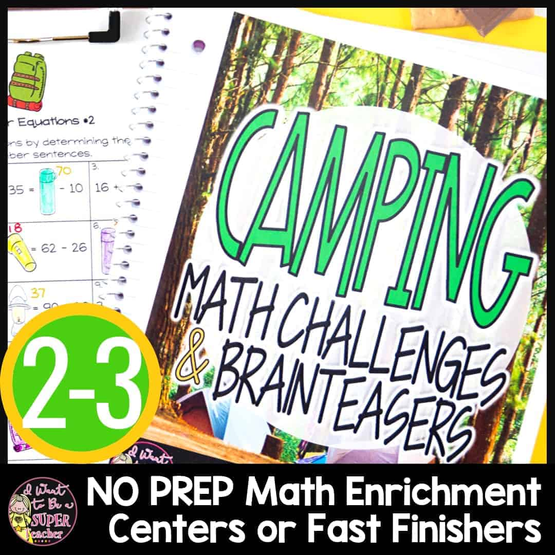 Camping Math Challenges Amp Brainteasers
