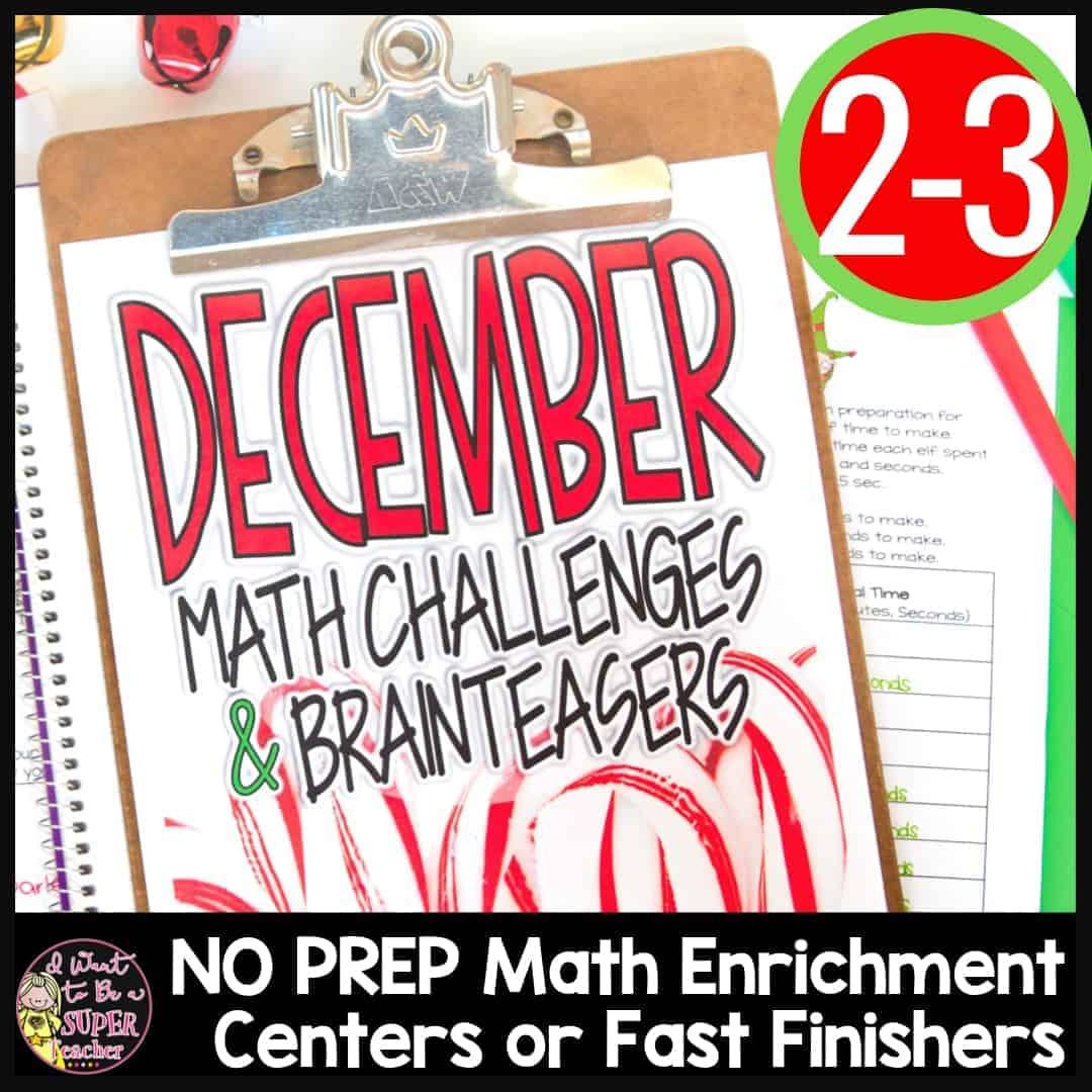 Christmas Math Challenges Amp Brainteasers