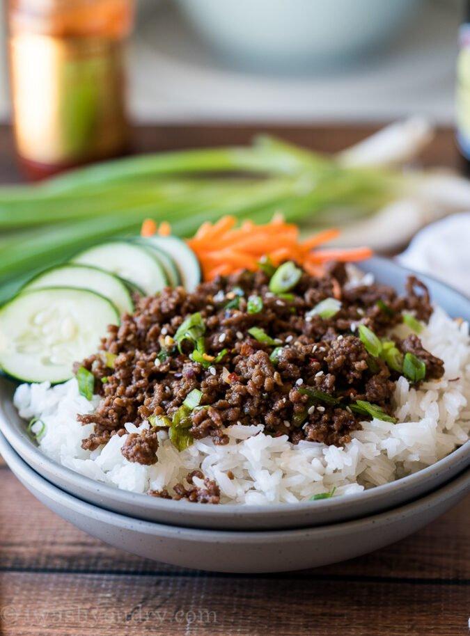 Easy Korean Ground Beef Recipe | I Wash You Dry