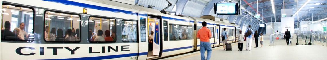 Bangkok Suvarnabhumi Airport to Pratunam by Train