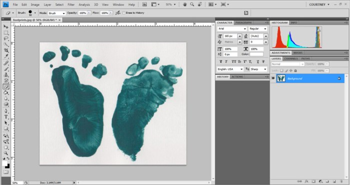 I Heart You Footprint Keepsake Tutorial - I Watch Them Grow