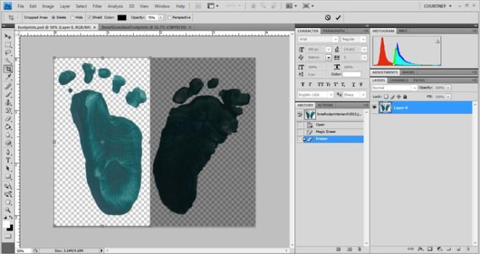I Heart You Footprint Tutorial - I Watch Them Grow