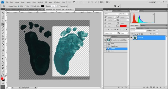 I Heart You Footprint Tutorial - I Watch Them Grow