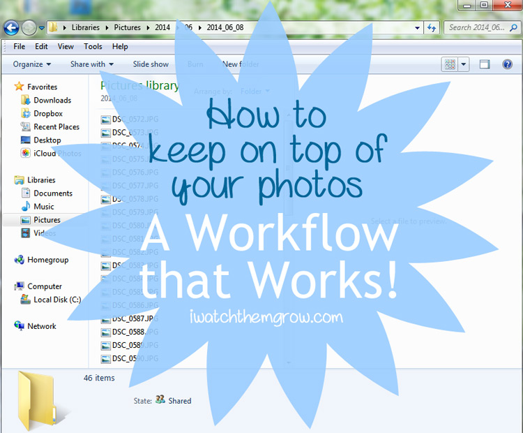 How to keep on top of your photos - a workflow that works!