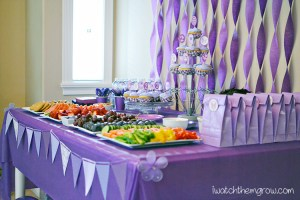 purple birthday party ~ I Watch Them Grow