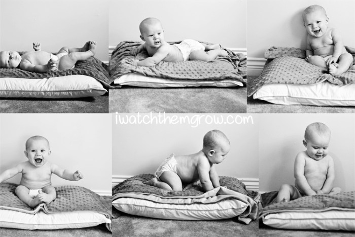 """Watch me grow"" Baby's first year photo project ~ iwatchthemgrow.com"