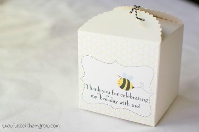 honey bee party favor