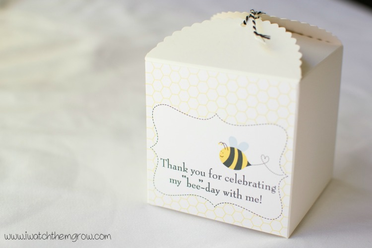 honey bee party favor