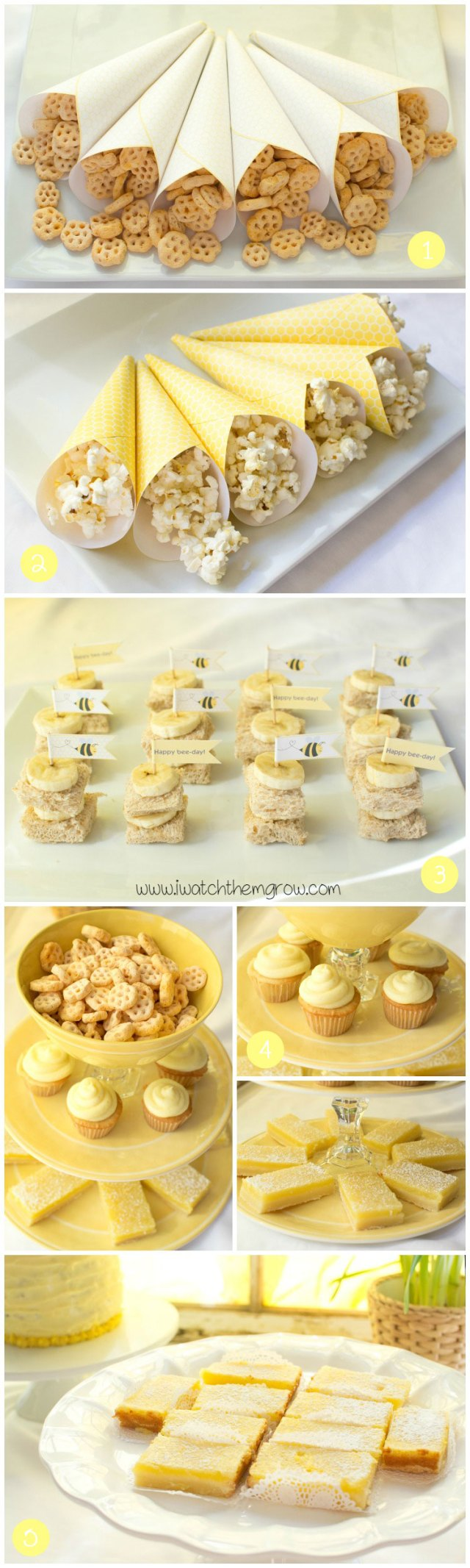 Sweet honey bee party food ideas!