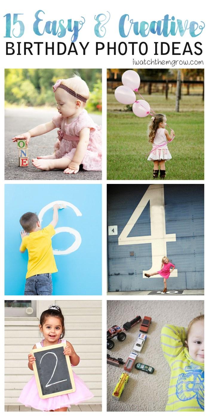 15 super easy birthday photo ideas