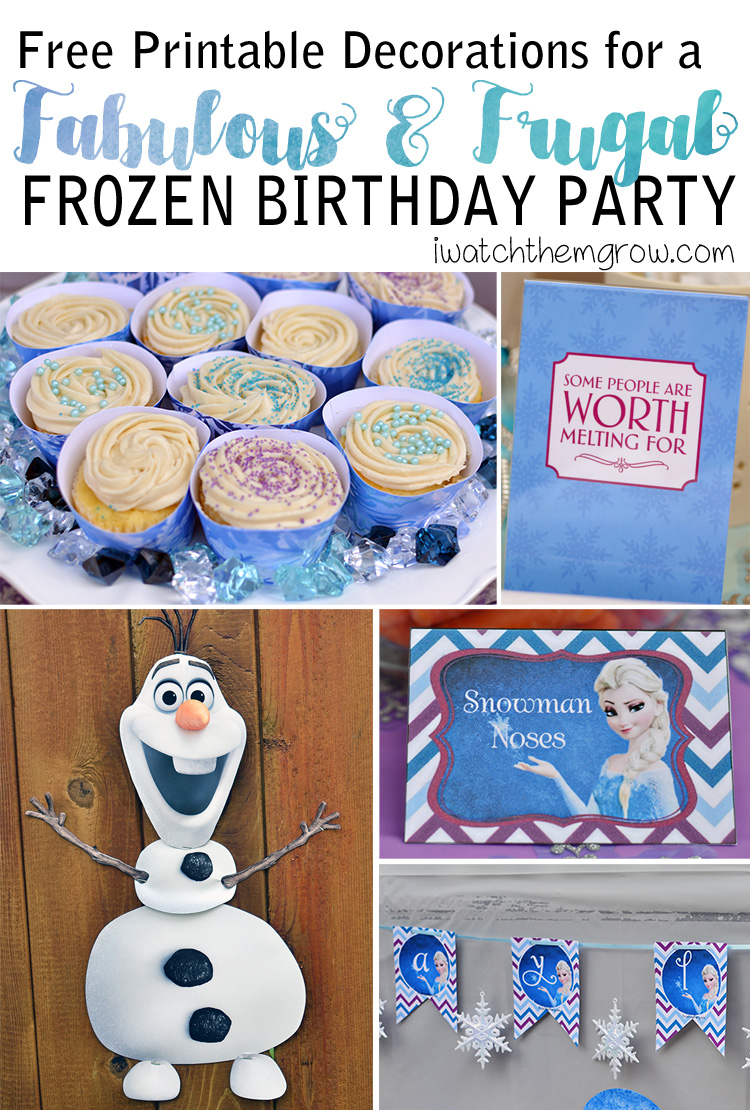 image about Frozen Party Food Labels Free Printable identify How Towards Toss a Incredible and Frugal Do-it-yourself Frozen Birthday Celebration