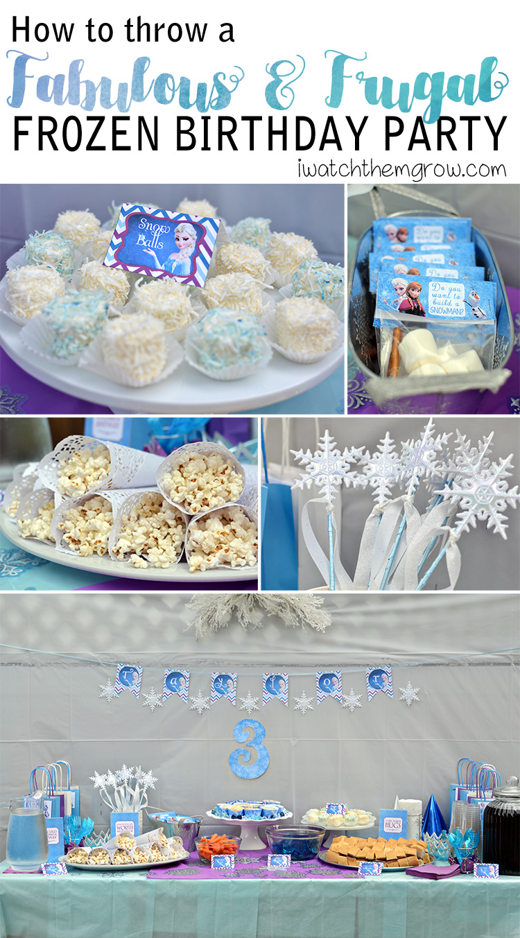 image regarding Frozen Food Labels Free Printable named How Toward Toss a Fantastic and Frugal Do-it-yourself Frozen Birthday Occasion