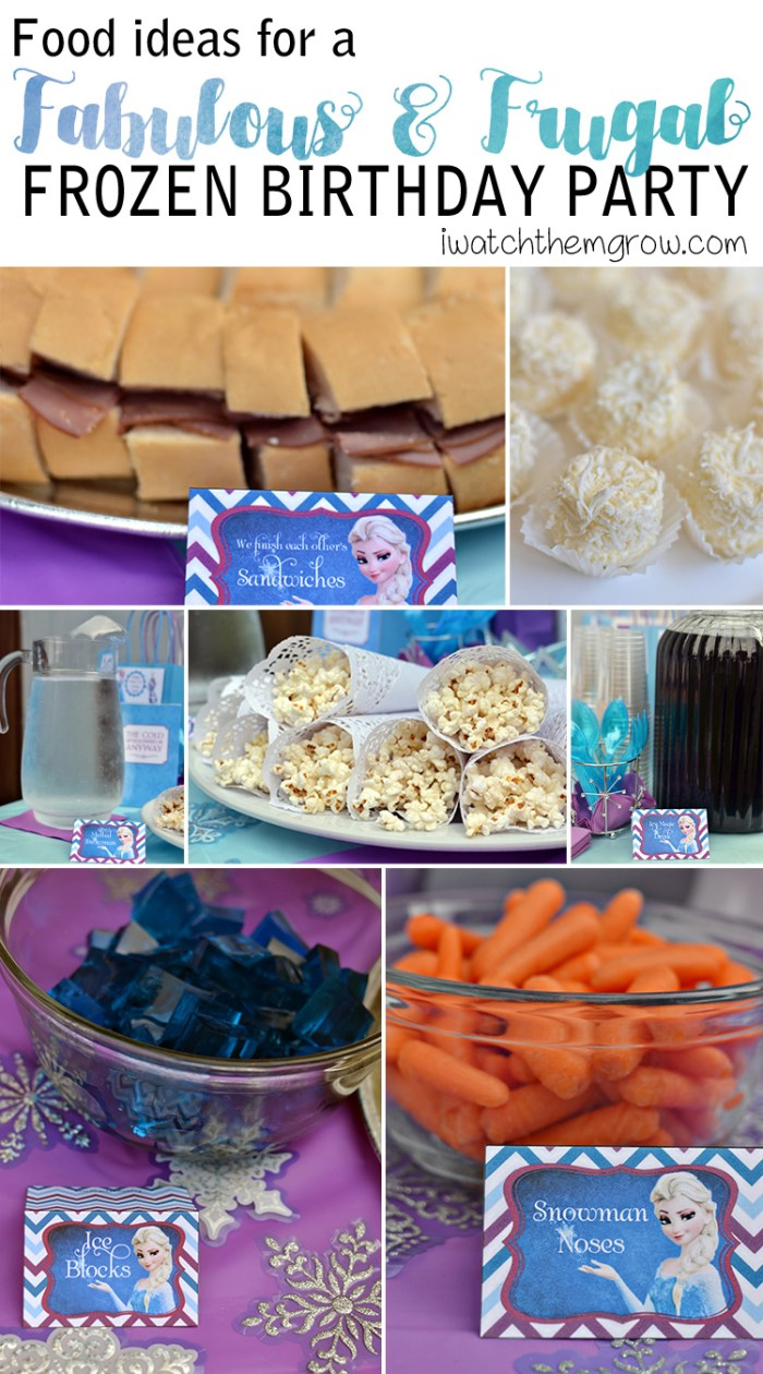 Food ideas for DIY Frozen birthday party