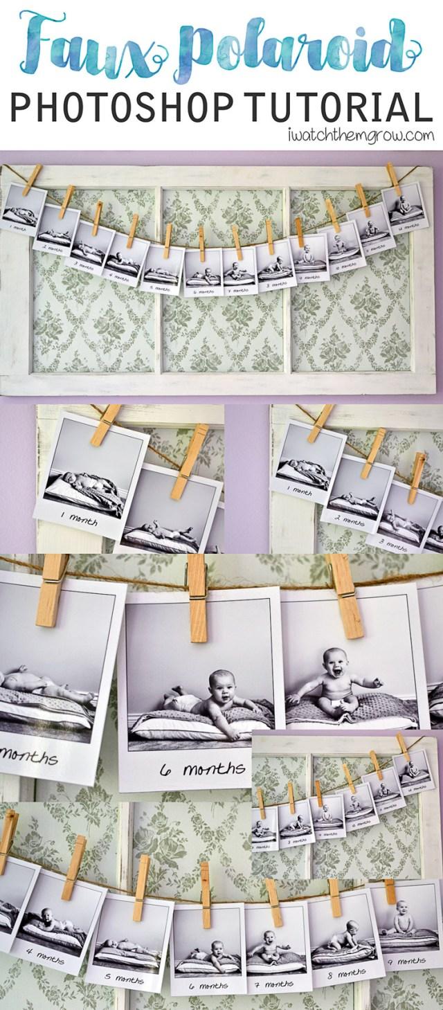 Faux Polaroid Photoshop tutorial