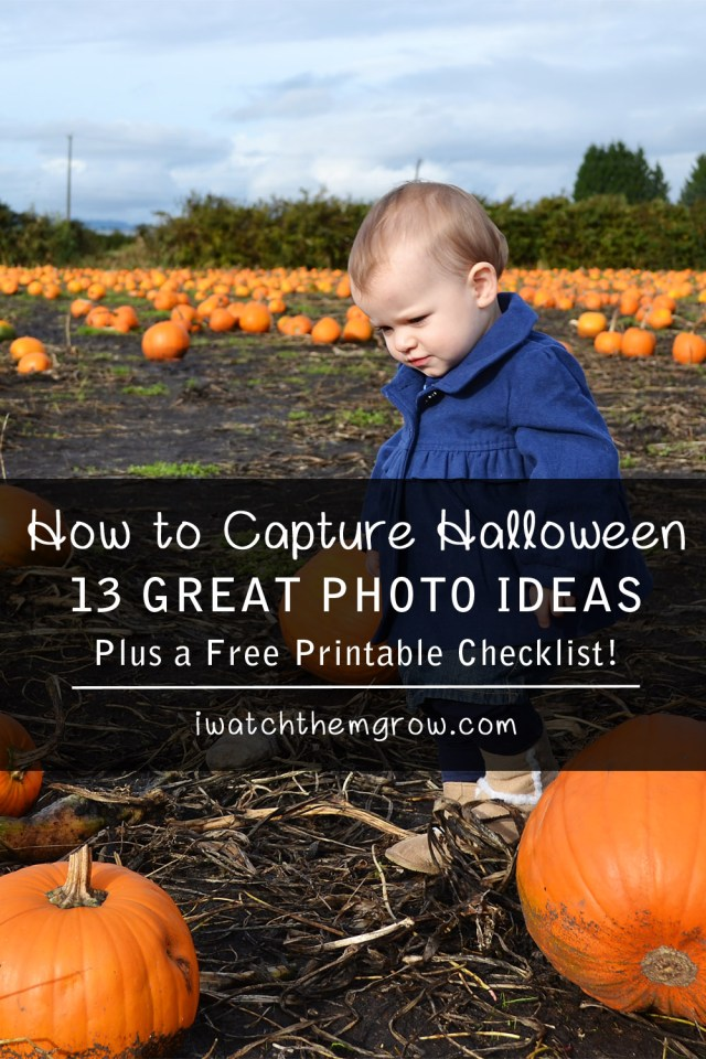 13 Great Halloween Photo Ideas and a free printable checklist!