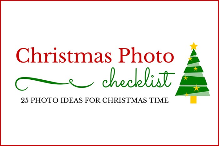 25 Christmas photo ideas for capturing your family's Christmas memories this year!