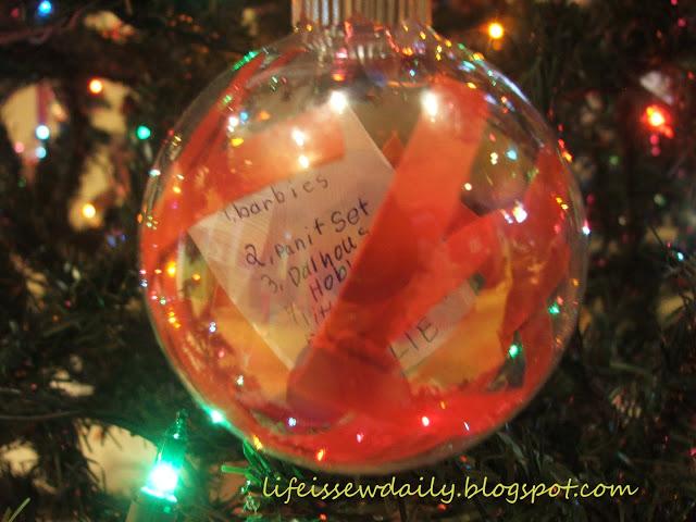 4/5 Handmade family memory Christmas tree decorations - Christmas wish list ornaments