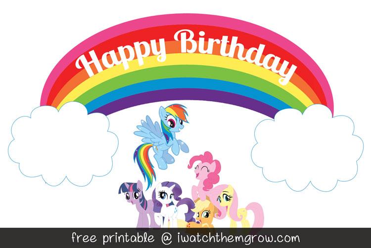 graphic relating to Free Printable My Little Pony Birthday Invitations identify Totally free MLP Rainbow Sprint Birthday Social gathering Printables