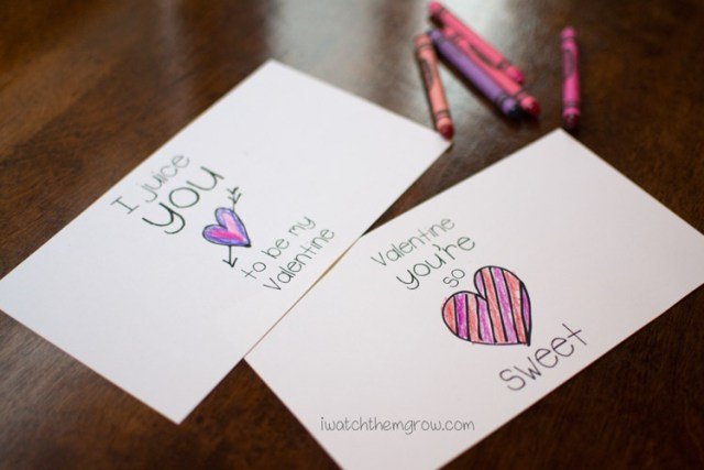 Free printable Valentine juice box wrappers for your kid to color!