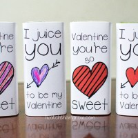 Valentines Juice Box Wrappers (Free Printable)