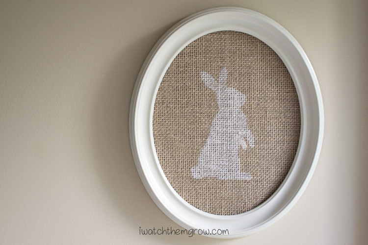 Burlap Bunny Easter Decor