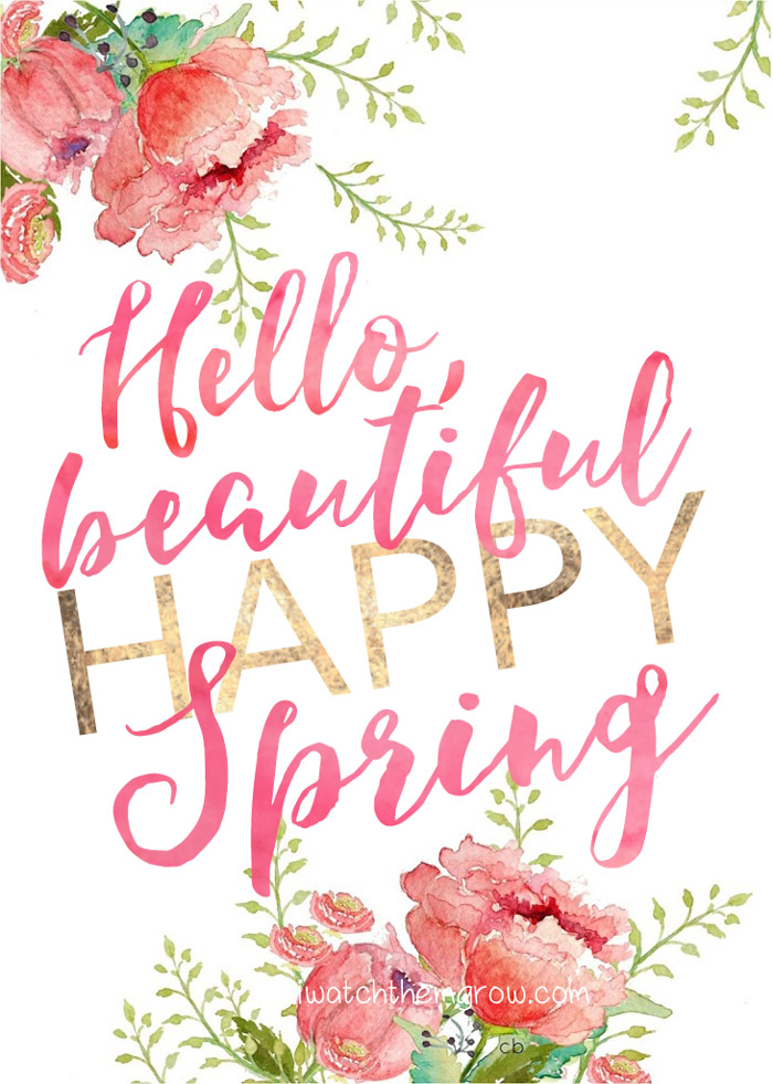 Hello, beautiful happy Spring printable via I Watch Them Grow