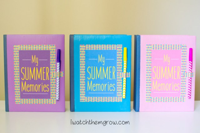 DIY kid's journal album tutorial and free printables - perfect for summer vacation or family travel! An easy project for under $5.