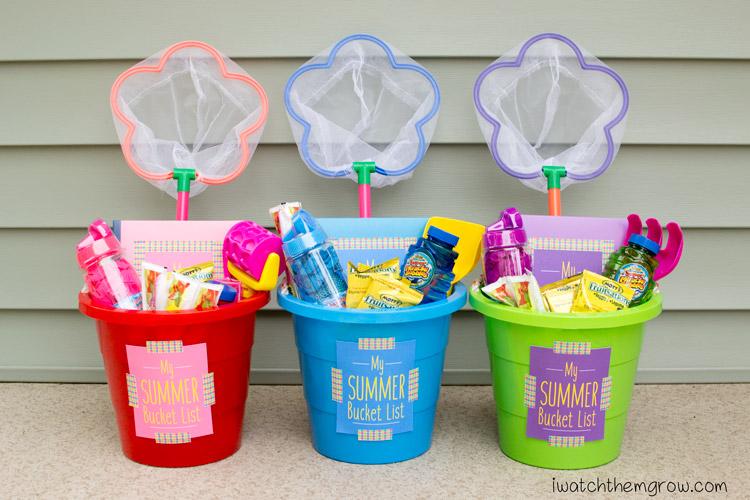 summer bucket gift idea