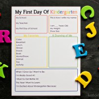 First Day of School Interview (Free Printable)